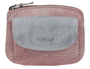 Lagen Dámská kožená peněženka 786-382 Plum Silver