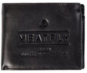 Meatfly Pánská kožená peněženka Seaway A-Black