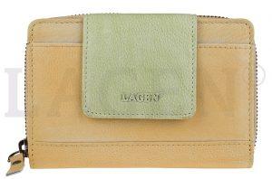 Lagen Dámská kožená peněženka 931 Yellow/Green
