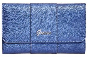 Guess Dámská peněženka Factory Women`s Desmond Slim Wallet Clutch Midnight Blue