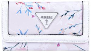Guess Dámská peněženka Factory Women`s Braelynn Floral-Print Slim Wallet Floral