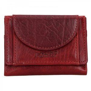 Dámská kožená slim peněženka Lagen Mellba – vínová