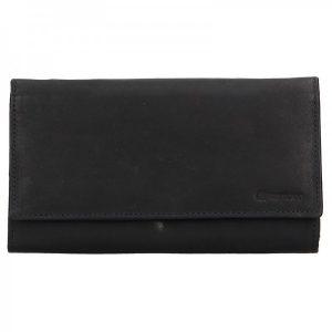 Dámská kožená peněženka Diviley Emma – černá