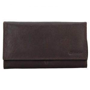 Dámská kožená peněženka Diviley Lorra – hnědá