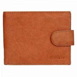 Pánská kožená peněženka Diviley Marek – světle hnědá