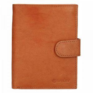 Pánská kožená peněženka Diviley Brock – světle hnědá