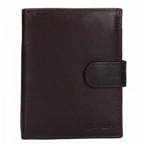 Pánská kožená peněženka Diviley Brock – tmavě hnědá