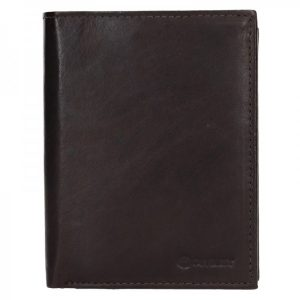 Pánská kožená peněženka Diviley Levin – tmavě hnědá