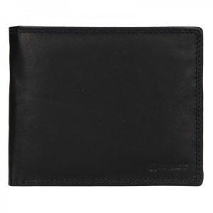 Pánská kožená peněženka Diviley Evžen – černá