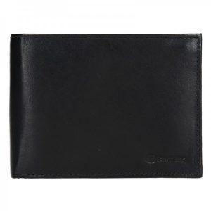 Pánská kožená peněženka Diviley Peter – černá