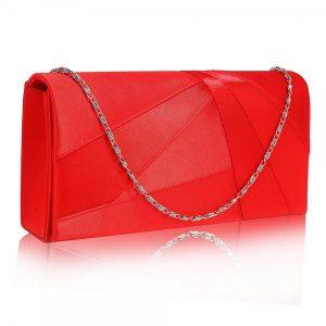 Dámské psaníčko LS Fashion Quinn – červená