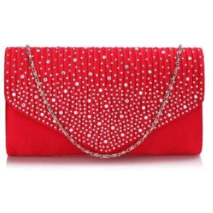 Dámské psaníčko LS Fashion Alaina – červená
