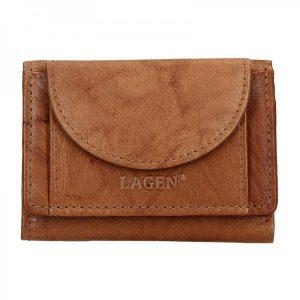 Pánská kožená slim peněženka Lagen Floyd – hnědá