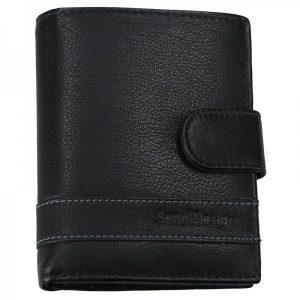 Pánská kožená peněženka SendiDesign Evron – černá