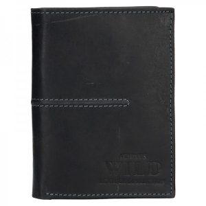 Pánská kožená peněženka Always Wild Romelo – černá