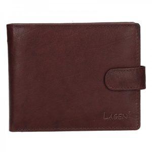 Pánská kožená peněženka Lagen Ivan – hnědá