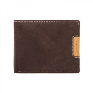 Pánská kožená peněženka Lagen Koudy – hnědá