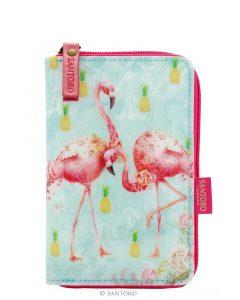 Santoro tyrkysová peněženka Flamingos