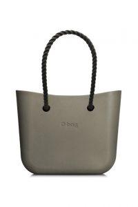O bag kabelka MINI Rock s černými dlouhými provazy