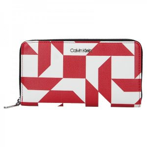 Dámská peněženka Calvin Klein Terra – červeno-bílá