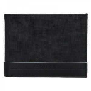 Pánská kožená peněženka Calvin Klein Natah – černá