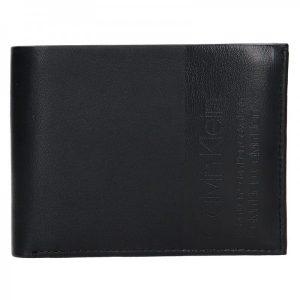 Pánská kožená peněženka Calvin Klein Britt – černá
