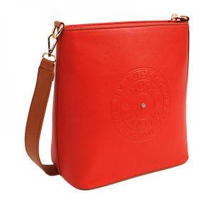 Dámská crossbody kabelka Doca 14516 – červená