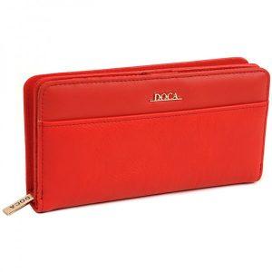Dámská peněženka Doca 65316 – červená
