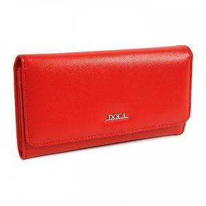 Dámská peněženka Doca 65310 – červená