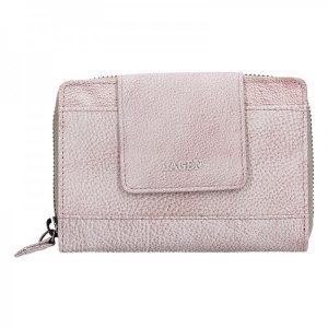 Dámská kožená peněženka Lagen Agáta – světle fialová