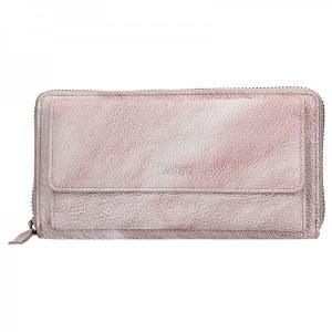 Dámská kožená peněženka Lagen Maria – světle fialová