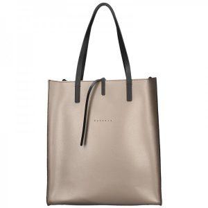 Dámská kožená kabelka Facebag Elmo – bronzová