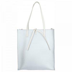 Dámská kožená kabelka Facebag Elmo – stříbrná