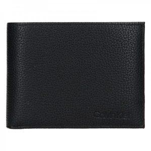 Pánská kožená peněženka Calvin Klein Ronn – černá