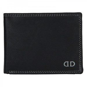 Pánská kožená peněženka DD Anekta Fido – černo-šedá