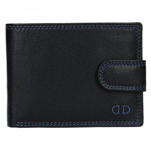 Pánská kožená peněženka DD Anekta Wiliam – černo-modrá
