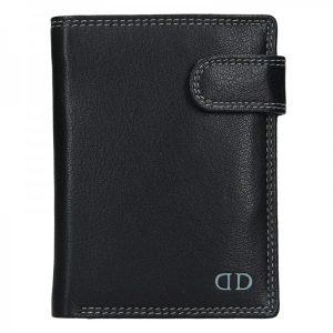 Pánská kožená peněženka DD Anekta Tobias – černo-šedá