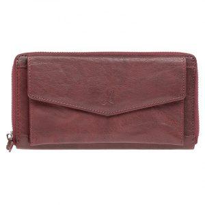 Dámská kožená peněženka Lagen Lena – vínová