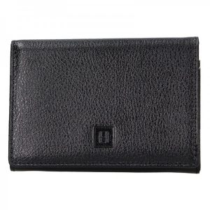 Dámská kožená peněženka Hexagona Leila – černá