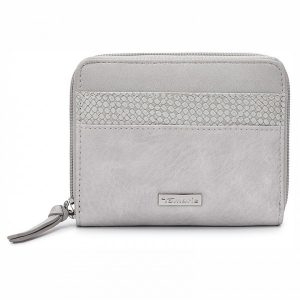 Dámská peněženka Tamaris Khemma Zip – světle šedá