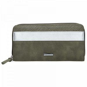Dámská peněženka Tamaris Khemma Big Zip – zelená (khaki)