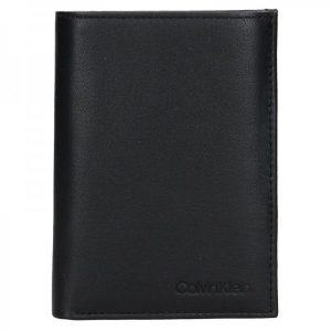 Pánská kožená peněženka Calvin Klein Jacob – černá