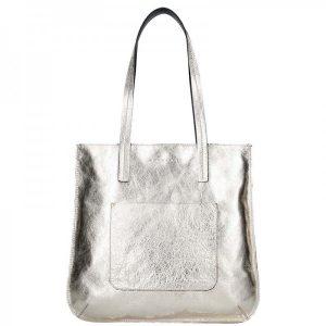 Dámská kožená kabelka Facebag Greta – zlatá