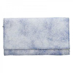 Dámská kožená peněženka DD Anekta Tarela – modro-bílá