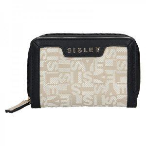 Dámská peněženka Sisley Glory – černo-béžová