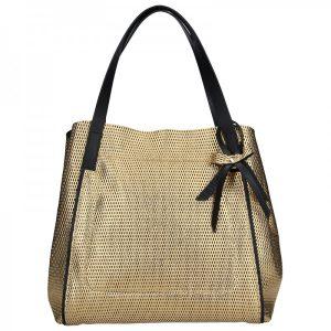 Dámská kožená kabelka Ripani Maya – zlatá