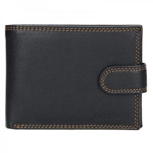Pánská kožená peněženka SendiDesign Risto – černá
