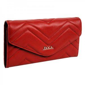 Dámská peněženka Doca 65015 – červená