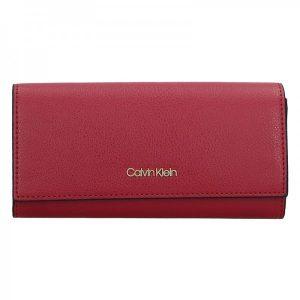 Dámská peněženka Calvin Klein Greta – vinová
