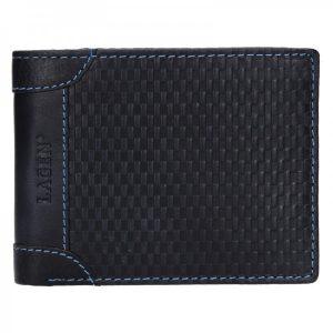 Pánská kožená peněženka Lagen Arthur – modrá